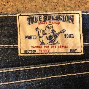 True Religion size 32 distressed skinny jean